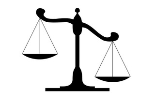 law scale graphic